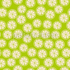 Sliced Lemon Seamless Vector Pattern Design
