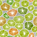 Slices Of Fruit Seamless Vector Pattern Design