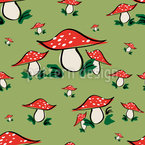 Fly Agaric  Seamless Vector Pattern Design