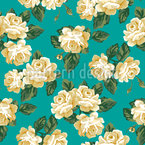 Vintage Rose Bouquet Seamless Vector Pattern Design