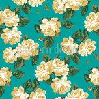 Vintage Rosen Bouquet Nahtloses Vektormuster