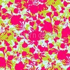 Scherenschnitt Flora Nahtloses Vektormuster