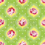 Rose Damask Seamless Vector Pattern Design