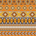 Earthy Ethno Stripes Seamless Vector Pattern Design