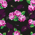 Nostalgic Rose Bouquet Seamless Vector Pattern Design