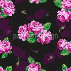 Nostalgie Rosen Bouquet Nahtloses Vektor Muster