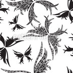 Tattoo Papillon Seamless Vector Pattern Design