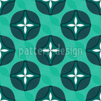 Abstract Blossoms With Waves Pattern Design