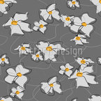 Drawn Bloom Seamless Vector Pattern Design