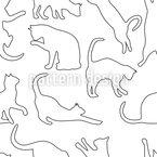 Spielende Katzen Nahtloses Vektor Muster