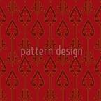 Herzkönige Muster Design