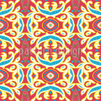Arabesque Interpretion Seamless Vector Pattern Design