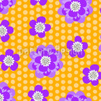 Flower Power Seamless Vector Pattern Design