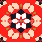 Flor De Lotto Seamless Vector Pattern Design