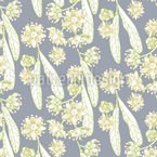 Lime Blossom Seamless Vector Pattern Design