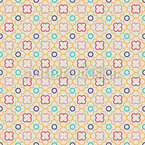 Retro Quatrefoil Seamless Vector Pattern Design