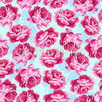 Lovely Rose Seamless Vector Pattern Design