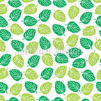 Leaves Of The Elm Tree Seamless Vector Pattern Design