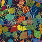Traum Von Blättern Nahtloses Vektormuster