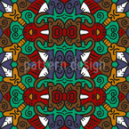 Leader Of The Tribe Seamless Vector Pattern Design