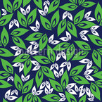 Leaf On Leaf Seamless Pattern
