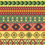 Mexican Border Seamless Vector Pattern