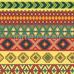 Mexikanische Grenze Nahtloses Vektor Muster