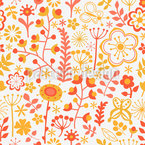 Summer Flowers At Dawn Seamless Vector Pattern Design