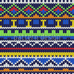 Knitwork Seamless Vector Pattern Design