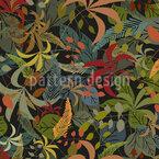 Blätter Im Wald Nahtloses Vektor Muster