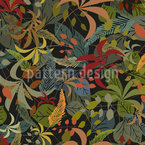Leaves In The Forest Seamless Vector Pattern