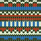Streifen Strick Nahtloses Vektor Muster