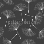 Dandelions Can Fly Seamless Vector Pattern Design