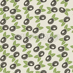 Fresh Plum Seamless Vector Pattern Design
