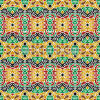 Tribal Connections Seamless Vector Pattern Design