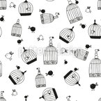 Free Birdie Seamless Vector Pattern Design