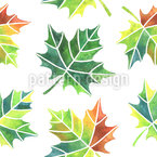 Turning Leaves Seamless Vector Pattern Design