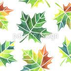 Verändernde Blätter Nahtloses Vektormuster