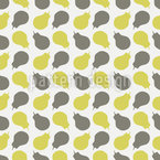 Quince Harvest Seamless Vector Pattern Design