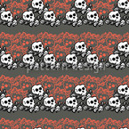 Skully Grey Repeating Pattern
