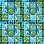 Affection To The Square Seamless Vector Pattern Design