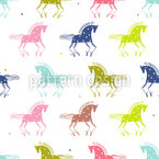 Wild Horses Seamless Vector Pattern Design