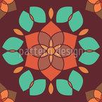 Lotusblüte Retro Nahtloses Vektormuster