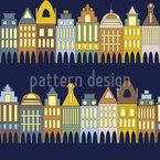 Häuserzeile Muster Design