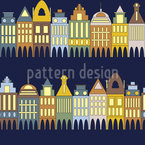 Row Of Houses Pattern Design