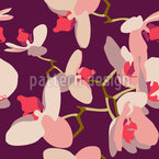Orchids Seamless Vector Pattern Design