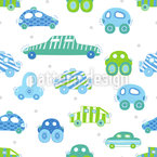 Traffic Jam Seamless Vector Pattern Design