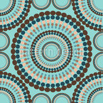 Rotating Dots Seamless Vector Pattern Design