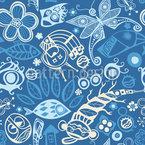 Ozean Der Träume Nahtloses Vektormuster