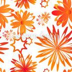 Drehende Blumen Nahtloses Vektormuster